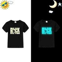 neue design-tops für mädchen großhandel-Neue Kinder Leuchtende T-Shirts Für Jungen Mädchen Tops Baumwolle Kurzarm Jungen T-shirts Glowing Design Baby Weihnachten Halloween Kleidung