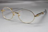 Wholesale 7550178 Stainless Steel Straight Stiff Eyeglasses designer Glasses frame Hot with box Frames vintage Glasses Unisex Hot Size:55-22