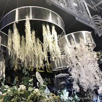 Wholesale mounted wall fan for sale - Group buy New Artificial Flowers silk Lover Fan Flower Party Wedding Decoration Supplies Simulation Fake Flower vine wall hang Home Decorations