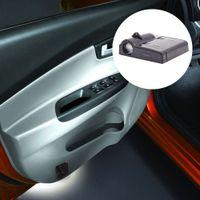 araba kapısı lazer gölge aydınlatma toptan satış-Akülü LED Araba Weclome Kapı Işık 3D Lazer Projektör Lambası Oto Araba Markaları Logo Gölge Işık Dekorasyon Aydınlatma için çoğu araba