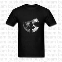 ingrosso notte ninja-Luna piena notte oscura ombra del guerriero magliette Progettato Mens maniche corte nera Tops Moda girocollo T-shirt Taglia S M L XL 2XL 3XL