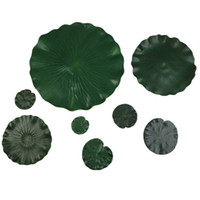 Wholesale pool water decorations floating for sale - Group buy Artificial Fake Eva Lotus Leaf Leaves Flowers Water Ponds Flowers Wedding Decoration Pond Fish Tank Lily Floating Pool Plants