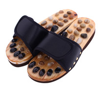 Wholesale black feet slippers resale online - Pebble Stone Foot Massage Slippers Reflexology Feet Elderly Acupuncture Health Shoes Sandals Slippers Healthy Massager