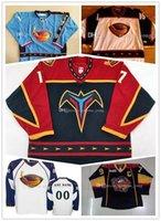 venta de camisetas de hockey vintage al por mayor-Costumbre hockey Atlanta Thrashers Vintage jerseys Dany Heatley 15 Tobias Enstrom 39 Marian Hossa 16 Ilya Kovalchuk Jersey 17 Hielo caliente de la venta