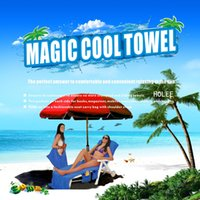 Wholesale chair towels resale online - Magic Cool Quick Dry Chair Beach Towels Lounger Mate Beach Ice Towel Sunbath Lounger Bed Garden Beach Chair Cover Towels CCA11688