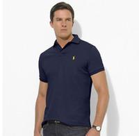 ingrosso uomini di polo di alta qualità-polo di alta qualità da uomo in cotone solido pantaloncini polo estate casual polo t-shirt uomo polo camicie 7821 poloshirt