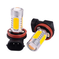 h8 sarı toptan satış-4 Adet H8 H11 7.5 W Araba Işık Kaynağı 12 V Araba Farlar Sis Lambaları LED Araba Işıkları ile Lens Projektör