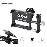 manillar de aluminio mtb al por mayor-GUB G - 85 Aleación de aluminio MTB Bike Mount Bicycle 3.5-6.2inch Soporte para teléfono Soporte GPS Bicicleta Manillar Bike Phone Mount Holder de ciclismo