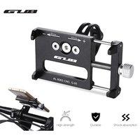 поддержка велосипеда оптовых-GUB G-85 алюминиевый сплав MTB велосипед крепление велосипеда 3.5-6.2 дюймов Держатель телефона поддержка GPS велосипед руль велосипед телефон крепление Велоспорт держатель