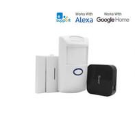 Wholesale home alarm camera door for sale - Sonoff Smart Home Automation Kits RF Bridge PIR2 PIR Motion Sensor DW1 Door Window Alarm Sensor Work with Alexa Google Home