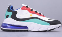 eğitmenler kadın koşu toptan satış-2020 Nike air max 270 react shoes BAUHAUS white Blue React men running shoes OPTICAL triple black mens womens trainers breathable sports outdoor sneakers