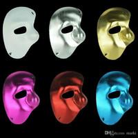 Wholesale phantom opera masks resale online - Marki pc half face mask Phantom of the Opera right half of the face cloth Party mask H53