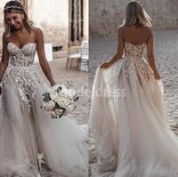 c6b118f0be2 Wholesale princess style sweetheart wedding dresses for sale - 2019  Bohemain Arabric Wedding Dresses Sweetheart Appliques