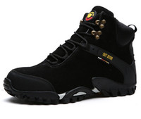 пушистые снежные сапоги оптовых-Снег сапоги из натуральной кожи мужские плюшевые сапоги на открытом воздухе пушистые морозостойкие ботинки для человека и противоскользящие ботинки для походов