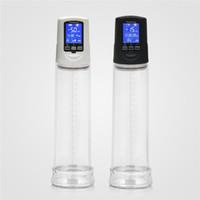 neue penis pumpen großhandel-Neue USB-Penispumpe der zweiten Generation mit LCD-Display, aufgeladener elektrischer Penispumpe und elektrischer Penis Extender-Sexmaschine