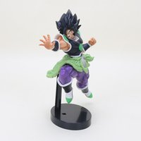 Wholesale 22cm action figures resale online - 22cm animated dragon ball Z graphic Broly toy Brolly SUPER soldier movie Broly action figure PVC toy Y190529