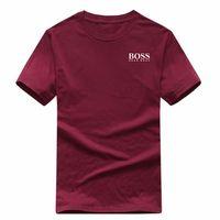 pasarela estampado de flores al por mayor-Moda para hombre camiseta nuevo diseñador camiseta europea americana popular BOSSprinting camiseta hombres mujeres parejas camiseta de lujo S-XXL