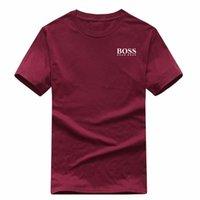 xxl t kadın tişörtleri toptan satış-Moda erkek tişört yeni tasarımcı t shirt Avrupa Amerikan popüler BOSSprinting T-shirt erkek kadın çiftler lüks t-shirt S-XXL