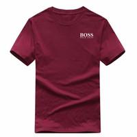 camiseta de lujo para hombre al por mayor-Moda para hombre camiseta nuevo diseñador camiseta europea americana popular BOSSprinting camiseta hombres mujeres parejas camiseta de lujo S-XXL