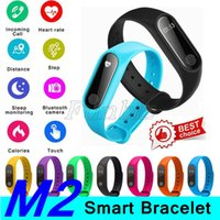 Wholesale package tracker for sale – best M2 Fitness Tracker Watch Band Heart Rate Monitor Waterproof Activity Tracker Smart Bracelet Pedometer Call Remind Health with Package Cheap