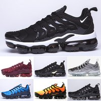 ingrosso scarpe dsw donne-nike Vapormax Tn plus air max airmax TN Inoltre scarpe da corsa per donne degli uomini Reale Smokey Mauve String Colorways oliva sotto forma metallica Triple Bianco Nero Trainer