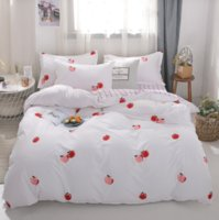 Wholesale gold bedding quilts resale online - 3 Bedding Sets Soft Polyester Stars Home Textile Cartoon Beddingset Bed Starry Sky Quilt Cover Bed Sheet Pillowcase Set