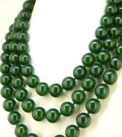 Wholesale olive green jade for sale - Group buy necklace gt gt Round10mm Olive Green Jade Necklace Knotted Lariat Fashion Necklace quot
