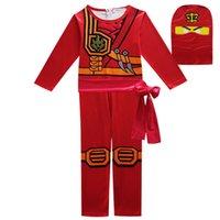 süs ördek toptan satış-Çocuk Giyim Seti Ninja Ninjagoed Cosplay Kostümleri Çocuklar Kız Erkek Giysileri Fantezi Parti Elbise Ninja Streetwear J190514 Suits
