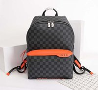 Wholesale leather design backpacks resale online - 2020 New Fashionable Luxury Design Bag Made of Leather and Canvas Large Capacity Fashion Printing Luxury Men s Backpack NO
