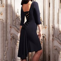 Wholesale new arrival latin dance dresses for sale - Group buy 2019 New Arrival Latin Dance Dress Women Sexy Half sleeve Practice Clothes For Ballroom Dancing Lady Competition Dance Wear