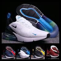 gökkuşağı ayakkabıları kadınlar toptan satış-2019Designer shoes men women Nike 270 AIR MAX Atletik Eğitmenler Erkekler Gökkuşağı Yastık Sneakers 27c Yürüyüş Spor Yürüyüş çocuklar Koşu Maxes 2018 Kadın Koşu Ayakkabıları boyutu