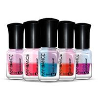лучшие гелевые краски для ногтей оптовых-Лучшие продажи Новые 5 цветов ногтей Температура Изменить Nail Color UV Gel польский Gradient Gel подарок для девочек TSLM1