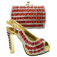 ingrosso alti talloni di vendita al dettaglio-Scarpa e scarpe africane con tacco alto e scarpa italiana con borsa abbinata