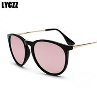 f4999e08a9 LYCZZ Unisex estilo retro gafas de sol polarizadas de plástico negro  Vintage Spectacle Frame hombres mujeres gafas de conducción gafas de moda
