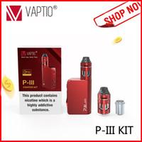 elektronische zigaretten-kits box mod großhandel-Elektronische Zigarette P3 Vape Bausatz 3000mah eingebautes Batterie-Starter-Kit 100W Box Mod 2.0ml Top Filling Zerstäuber E Zigarette