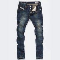 neue herren jeans berühmte marke großhandel-Hot's neue Frühling Herbst Herren klassische Vintage David Beckhammen Jeans High Quanlity berühmte Marke blau Denim Designer zerrissene Jeans Größe 28-42