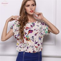 Wholesale china cap clothing for sale - Group buy 2020 New Chiffon Shirt Women Elegant Blouses Tops And Blusas Batwing Sleeve Womens Casual Cap Sleeve Shirts Outwear Cheap Clothes China