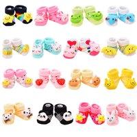 meias para crianças venda por atacado-Baby Socks Anti-Slip Algodão Recém-nascido Infantil Animal Dos Desenhos Animados Chinelos Botas Unisex