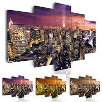 Wholesale skyline oil for sale - Group buy No Frame New York Canvas Print Modern City Skyline Art Painting Home Decoration Choose Color Size