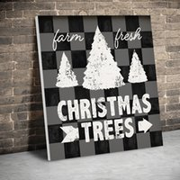 Wholesale wall art black white tree canvas resale online - 1 Panel Black and White Christmas Tree Canvas Paintings Wall Art Prints Posters Pictures Living Room Home Decor Poster Painting