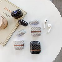 cubierta de auriculares bluetooth al por mayor-Diseñador Airpods Funda protectora de plástico de moda Fundas protectoras de lujo Airpods Auricular Bluetooth inalámbrico Funda de carga Funda de auricular