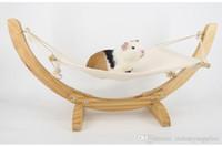 Wholesale hanging cat hammock resale online - Pet Supplies Warm Hanging Cat bed washable cat cover rat rabbit tortoise cat hammock small pet dog puppy bedclothes blanket A02