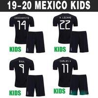 uniformes de futbol mexico al por mayor-2019 Mexico Camisetas de fútbol para niños Gold Cup CHICHARITO LOZANO CHUCKY Kids kits soccer jersey boys football shirt Uniforme de Copa de Oro chicos Youth G DOS SANTOS Calidad tailandesa