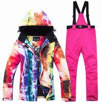 2019 New Ski Suit Women Snowboarding Sets Snowboard Winter Sportswear Snow  Clothing Skiing Suit Upgrade Ski Jackets and Pants 9b1fdfa41