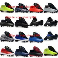 sapato de inicialização venda por atacado-2019 nova chegada mens chuteiras Phantom VSN Elite DF SG-Pro Anti Clog chuteiras de futebol Phantom Vision botas de futebol scarpe calcio quente
