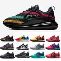 almofada mulheres sapatos venda por atacado-2019 Novo 720 Shoes almofadadas completa das mulheres dos homens de néon Triplo Preto Carbono Grey sol Prata metálica Chaussures Running Shoes EUR Tamanho 36-45