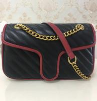 beutelriemen zum verkauf großhandel-Heiße Verkaufs-hochwertiges Womans Handtaschen-26cm Frauen-Goldketten-Bügel-Einkaufstasche-Schulter-Beutel-Umhängetasche-weiblicher Kurierbeutel-Geldbeutel 443497