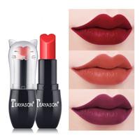 Wholesale paste lipstick resale online - Matte Moisturizing Lipstick Long Lasting Pigments Lips Makeup Women Beauty bean paste Gloss Lipstick Cute Cosmetic