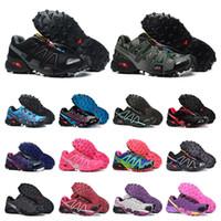 sapatos esportivos tamanho 46 venda por atacado-New Salomon velocidade atravessar 3 4 CS sapatos ao ar livre em execução para mulheres dos homens brancos pretos Sapatos de Atletismo respirável ostenta Sneakers tamanho 36-46