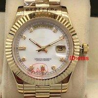 relógios de rosto branco para homens venda por atacado-Hot Luxo Branco Faces Gent Aço Inoxidável 41mm Tamanho Swiss Mens Mecânico Automático Para Os Homens de Negócios Assista Reloj Relógios de Pulso